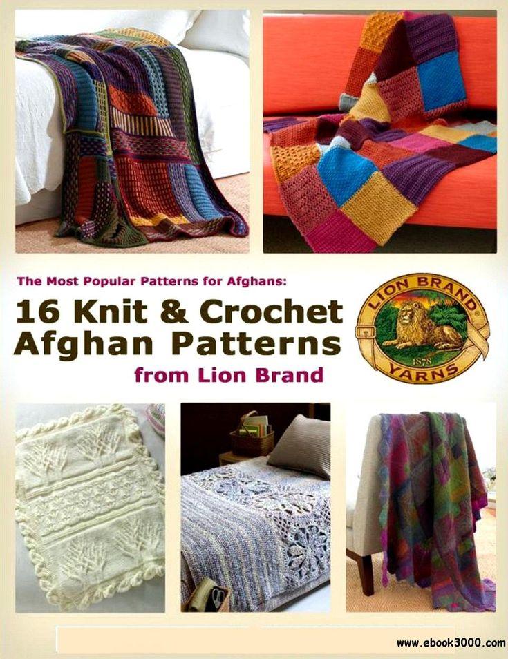 17 best crochet books images on pinterest crochet books crochet the most popular patterns for afghans 16 knit crochet afghan patterns from lion brand fandeluxe Images