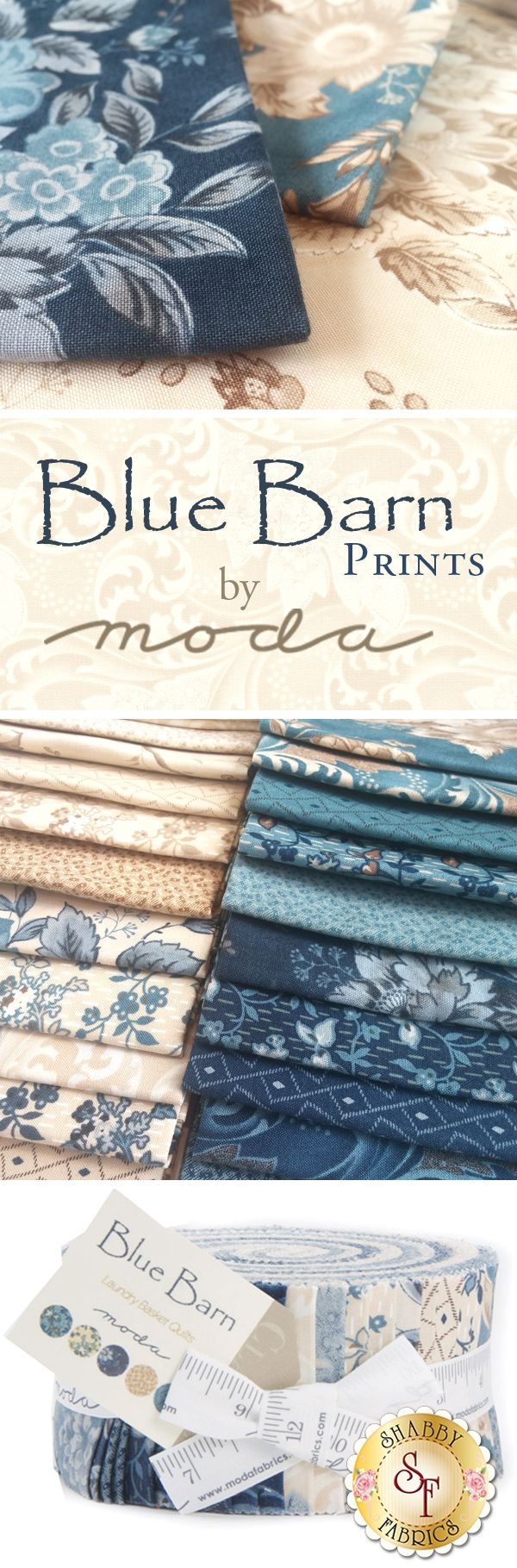 Blue Barn - Moda Fabrics The Blue Barn fabric collection brings together a range of prints and batiks into a cohesive line. A collection from Laundry Basket Quilts, it ranges from dramatic florals and paisleys to simplistic geometric designs to swirling and unique batiks!