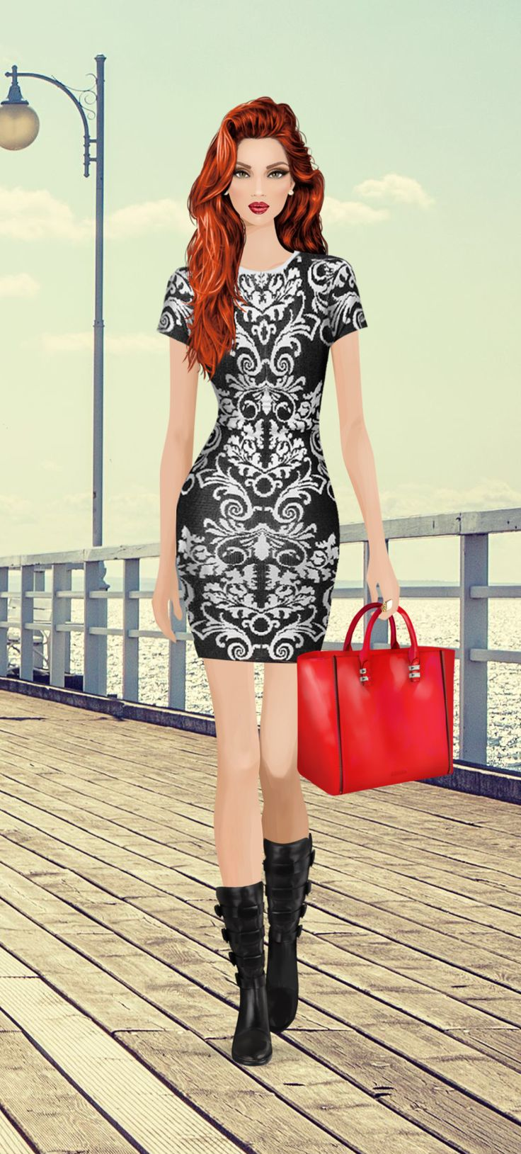 Red tote event on Covet Fashion Game