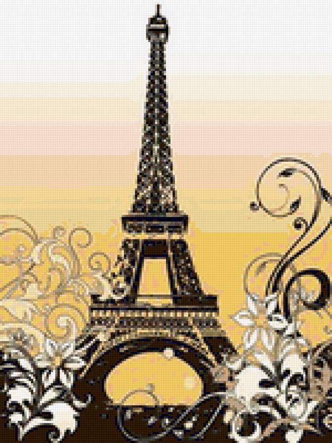 Предпросмотр - Эйфелева башня - Схемы вышивки - МиссОсень - Авторы - Портал «Вышивка крестом»