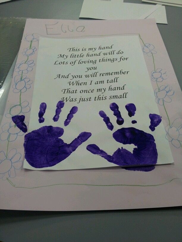 Amazing Grandparents Day Craft Ideas For Kids Part - 6: Grandparentu0027s Day Handprint Craft And Poem