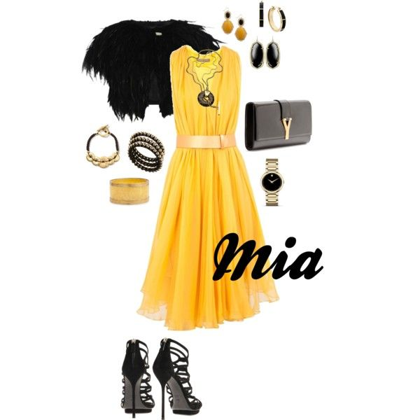 Alexander McQueen dress, Ted Baker shrug, YSL clutch, Gucci shoes, Trina Turk necklace, Movado watch & your choice of bracelets and earrings: Baker Shrug, Fashion Style, Alexander Mcqueen Dresses, Gucci Shoes, Outfits Ideas, Movado Watches, Black Gold, Style Mi Fashion, Nice Outfits