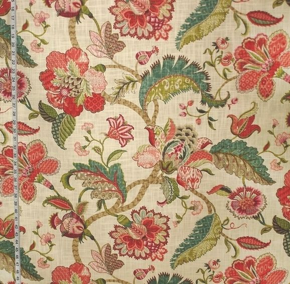 brewster red jacobean floral - photo #42