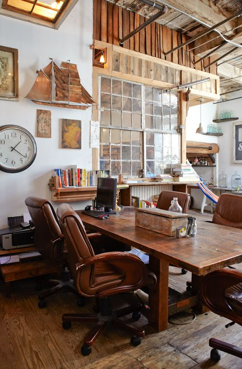 Méchant Design: reclaimed wood house: Interior Design, Idea, Wood, Window, Workspace, Home Office