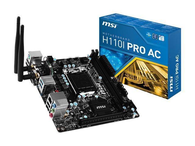 Msi H110i Pro Ac Lga 1151 Intel Globalscope Qatar Qatardeals Qataroffers Http Www Globalscope Qa Msi H110i Pro Ac Lga 1151 Intel Mini Itx Motherboard Msi