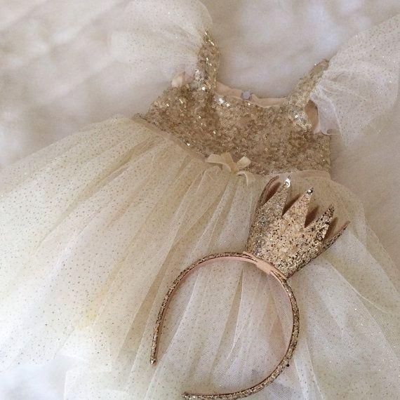 Tutu tutu dress baby dress girls dress gold by ElliesBoutique 30