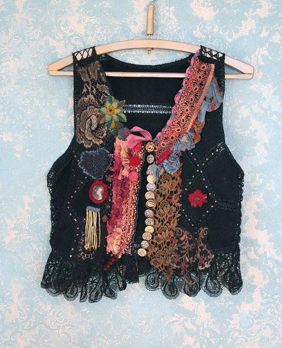 Lifelong Hippie  romantic embroidered vintage by FleurBonheur, $283.00