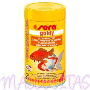 El alimento principal en escamas para carpas doradas y otros peces de agua fría.