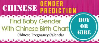 Chinese Gender Chart | Choosing Boy, Girl Baby with Chinese Pregnancy Calendar