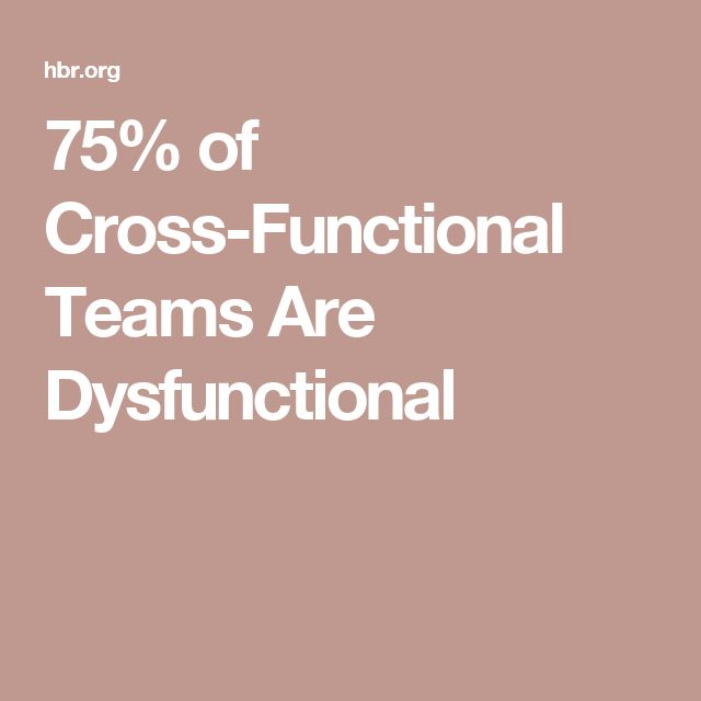 75% of Cross-Functional Teams Are Dysfunctional