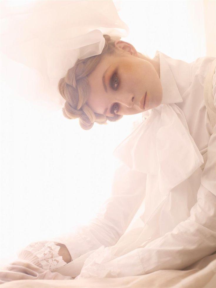 .: Models, Dreamy White, Big Braids, Italian Vogue, Victorian Dolls, Jessica Stam, Modern Victorian, White Suits, Big Bows