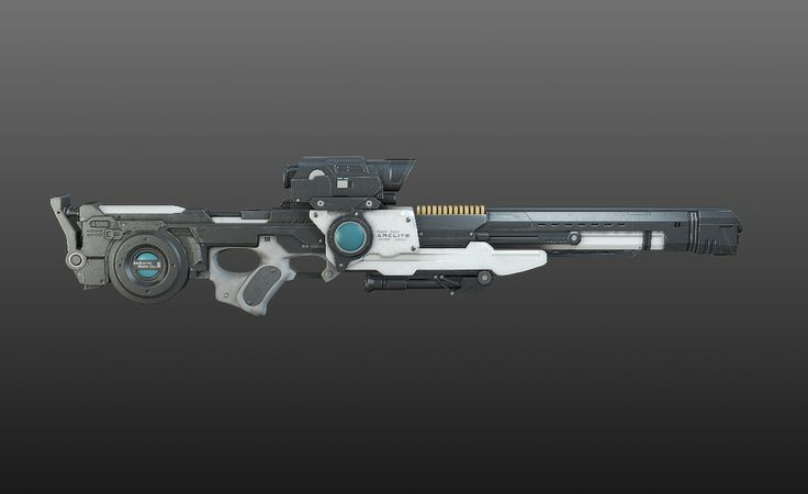 concept sci fi rifles   All images are realtime screen grabs from 3ds max viewport using ...