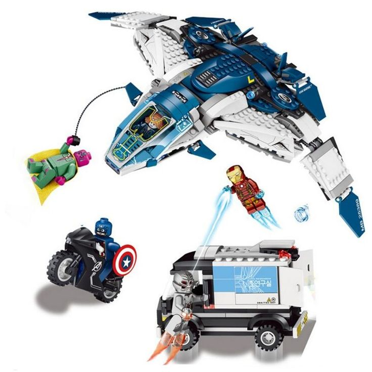 (34.89$)  Watch more here - http://aiqgb.worlditems.win/all/product.php?id=32661134983 - LELE Heroes Gathering Building Blocks The Quinjet City Chase Lron Man  Toys Compatible With Toys Super Heroes Bricks