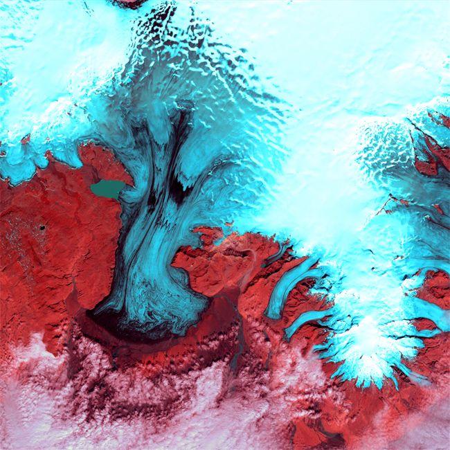 Earth as Art: Vatnajökull Glacier Ice Cap
