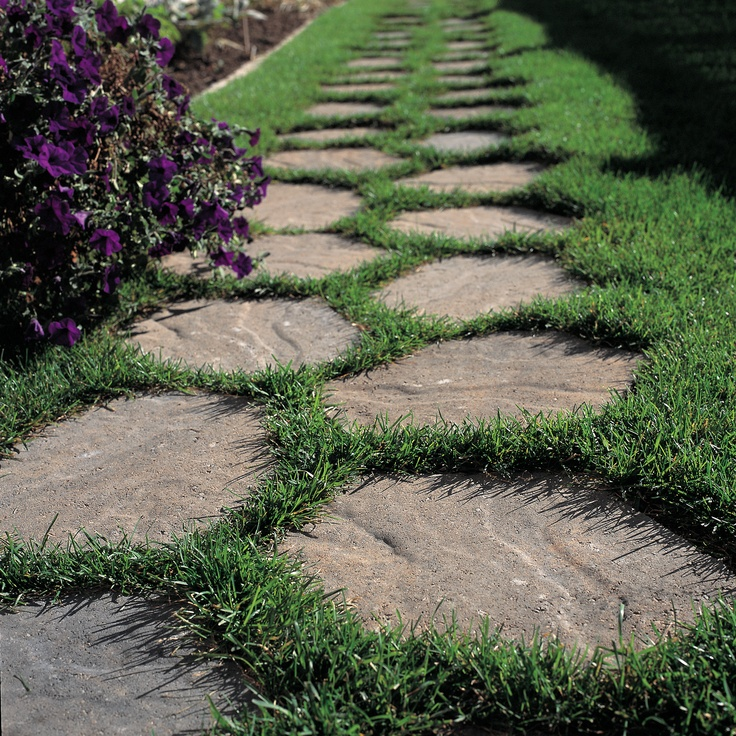 1000 images about landscape patio ideas on pinterest for Rock stepping stones landscaping