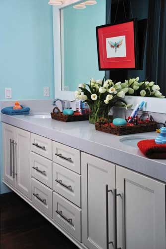 And This Is The Cabinetry For The Vanity,with More Traditional Style Pulls.
