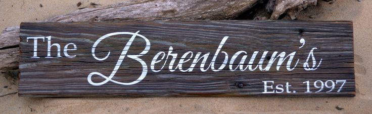 Rustic Reclaimed Wood Sign Family Last Name Signs Personalized Gift Entry Porch Welcome Plaque Custom Old Barn Wood Established Date