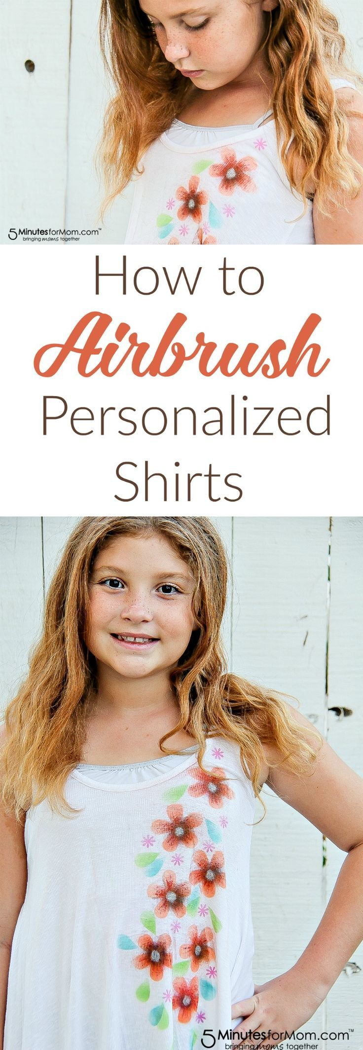 How to Airbrush Personalized Shirts for Kids - Follow these steps for a fun DIY craft of airbrushing customized shirts. Created for a sponsored post for Testors.