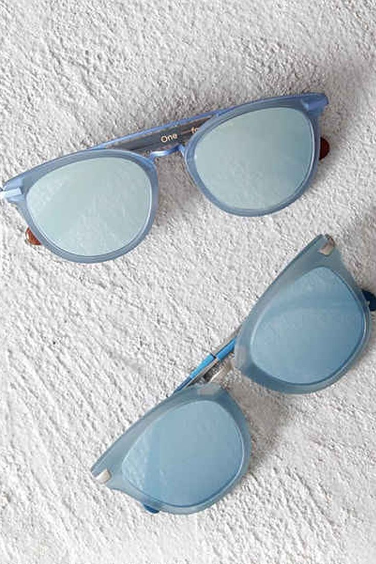 Keep it icy cool in powder blue TOMS Sunglasses.