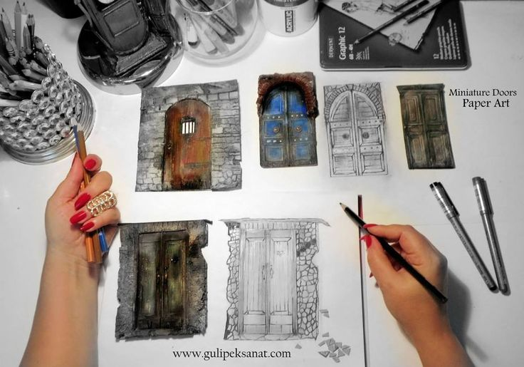 #doors #old #collection #paper #paperart #art #artist #gulipeksanat #handmade #vintage #
