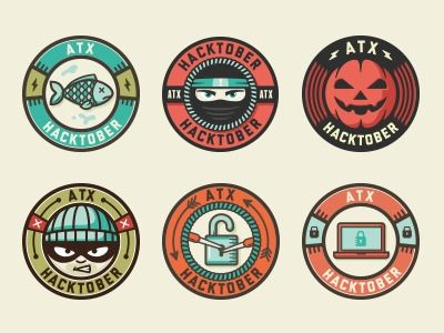 Badges/Lock Ups / Facebook Stickers by Nathan Walker (All The Pretty Colors) — Designspiration #icon  #badge