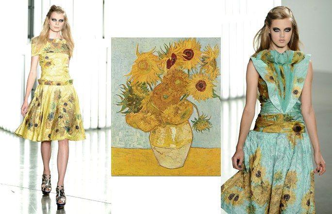 Van Gogh e Rodarte - Arte e moda: i quadri diventano moda