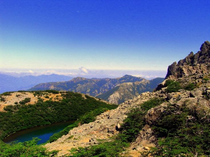 La Laguna del Huemul, reached from Valle Las Trancas, Termas de Chillan, Chile