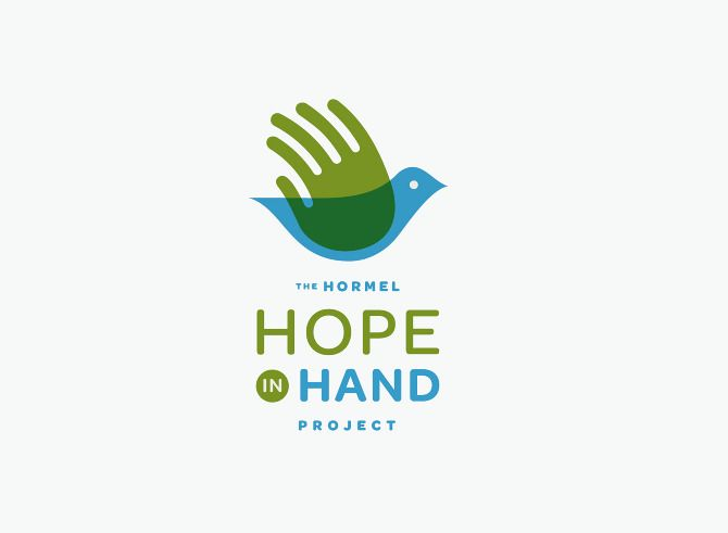 Logo: The Hope in Hand Project, A program that brings food to starving children in third world countries. | Designer: Allan Peters, Minneapolis, Minnesota | http://cargocollective.com/peters/Logos-1