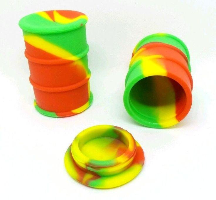 26ml Non Stick Oil Drum Barrel Concentrate Storage Jar Silicone Container Jar   #UnbrandedGeneric