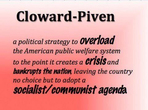 "The Cloward-Piven Strategy (known as ""Coward Proven"") is alive and well in America today. It's based on the teachings of Saul Alinsky, a communist/socialist, who wrote ""Rules for Radicals"" in 1971,…"