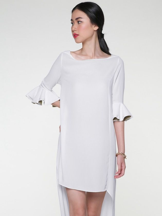 Image of Bell Sleeve Maxi Dress, White
