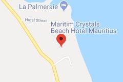 Karte von Maritim Crystals Beach Hotel Mauritius
