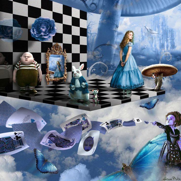 меню, шахматы из алисы в стране чудес картинка больше