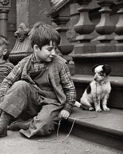 """hollyhocksandtulips: """" Clemens Kalischer, West Side N.Y.C, 1948-1949 """" É por isso que eu quero aprender a tirar fotografia!"""