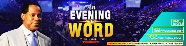 """akusonhenry blog: Join Pastor Chris for """"An Evening with the Word"""""""