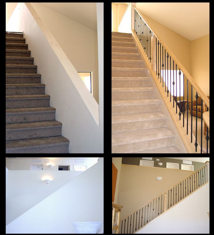 Staircase Remodel: Stair Remodel- Before And After