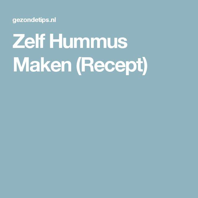 Zelf Hummus Maken (Recept)