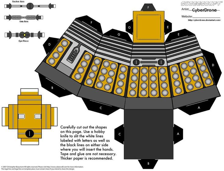Dalek from Dr. Who - Doctor Who Paper Crafts - dalek pattern box - #doctorwho  #dalek