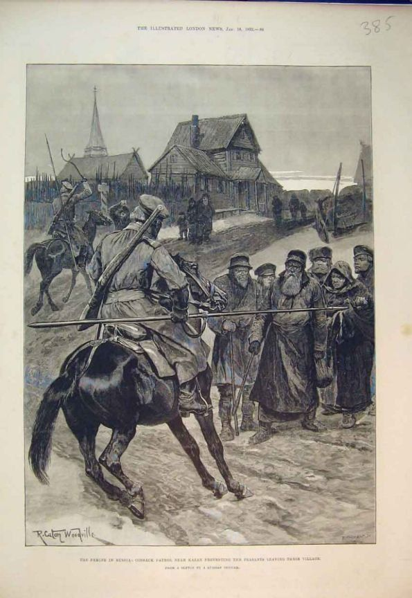 As the peasants lived in Tsarist Russia. The Cossacks did not give the peasants to leave the village to go with the wallet.  Feed the hungry was such that the police and Cossacks could not hold it.