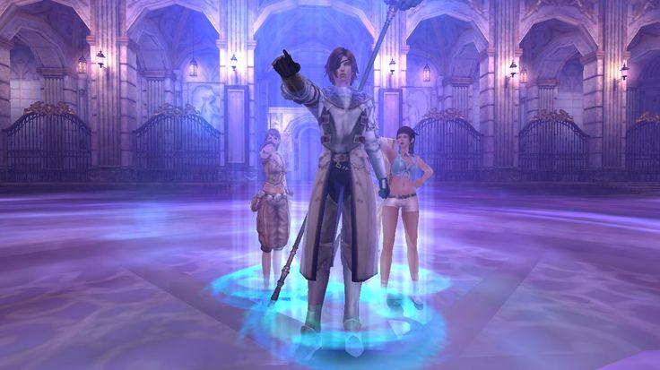 "Space-Time Room Lucifer's Castle my ""family"" Emilia (Wiz/Healer) BattleField Claude (Melee atk) Marie (Rangue DPS)"