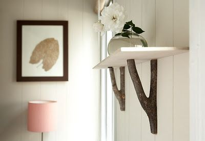DIY Branch Bracket via schmancy #Branch_Bracket #DIY #schmancy