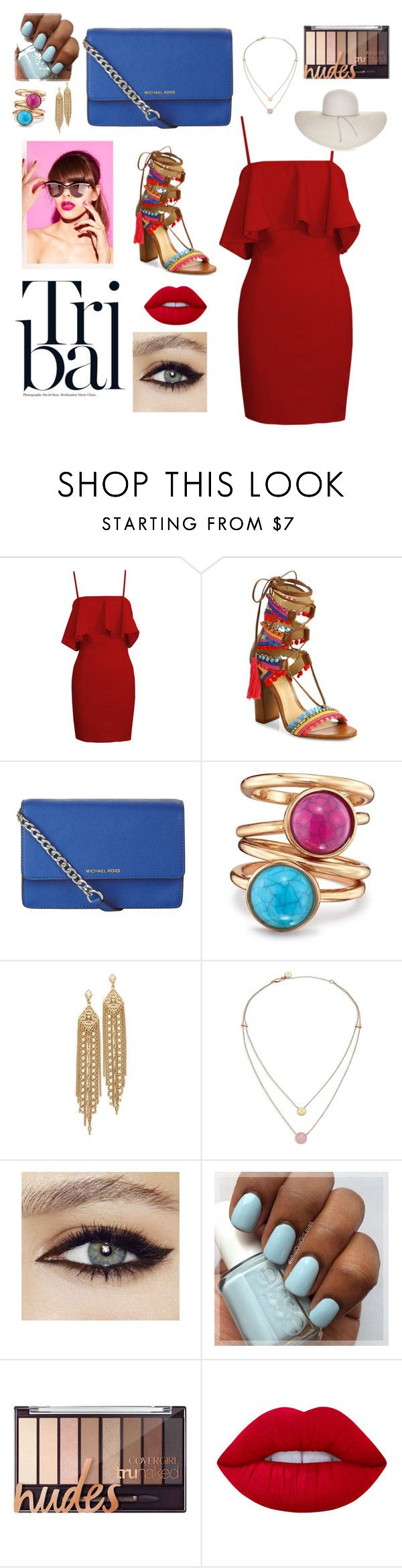 """""""Tribal."""" by emiam ❤ liked on Polyvore featuring Schutz, MICHAEL Michael Kors, Avon, Capwell + Co, Michael Kors, Lime Crime and Nine West"""