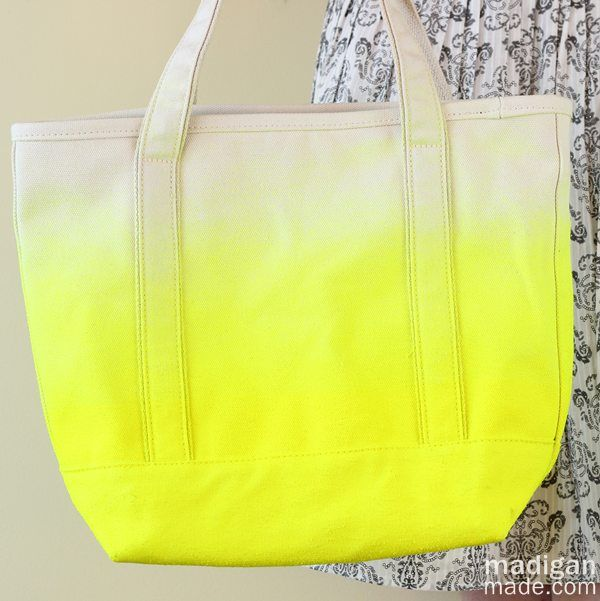 Neon Dipped DIY Tote Bag ~ Madigan Made { simple DIY ideas }