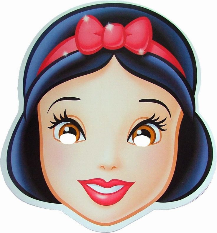 Snow White Free Printable Masks.