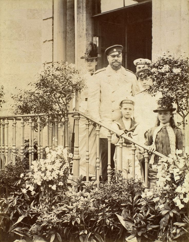 Alexander III and his family at the Gatchina Palace c.1886