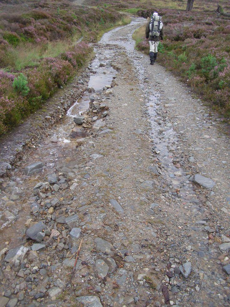 Flood damage on a track at West Quoich, Mar Lodge Estate, Scotland #NTSAppeal