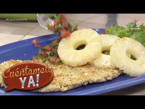 Milanesa empanizada de cacahuate   Chef Omar Sandoval   Cuéntamelo YA! - YouTube