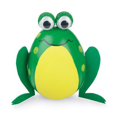 Easter Egg Frogs.  Something fun for kids who think they are too old to paint eggs.