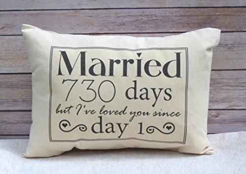 2nd Anniversary Cotton Gift Cotton Anniversary Gift for her Married for 730 days but I've loved you since day 1
