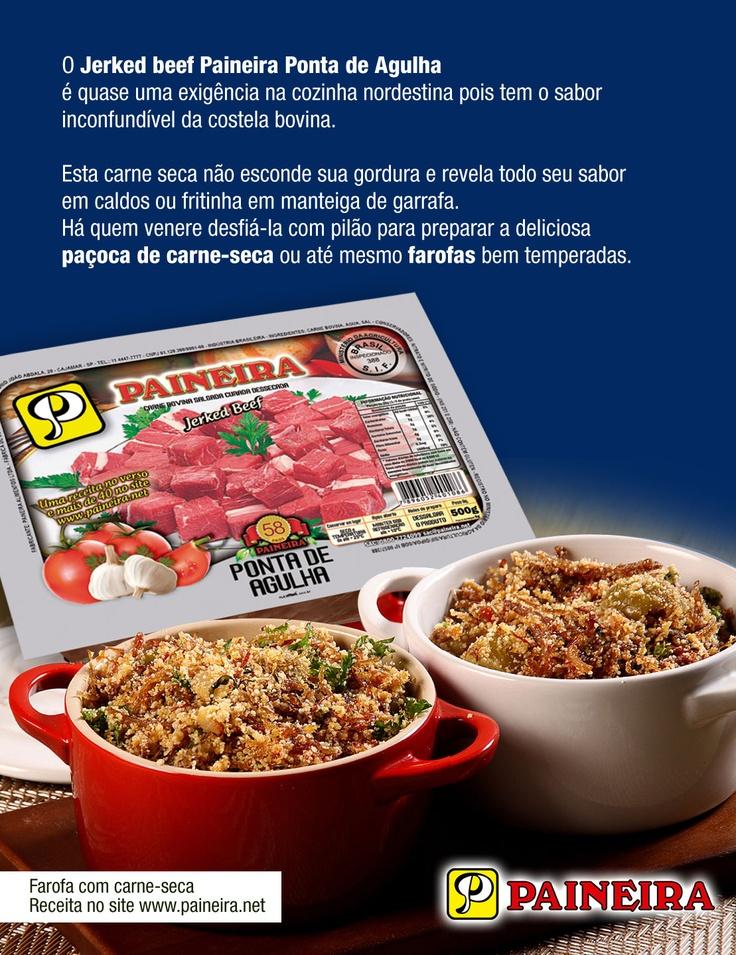 Principais utilidades da carne-seca corte Ponta de Agulha (Jerked Beef, charque).